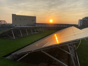 Green Roofs with solar panels of Rende Wastewater Treatment Plant
